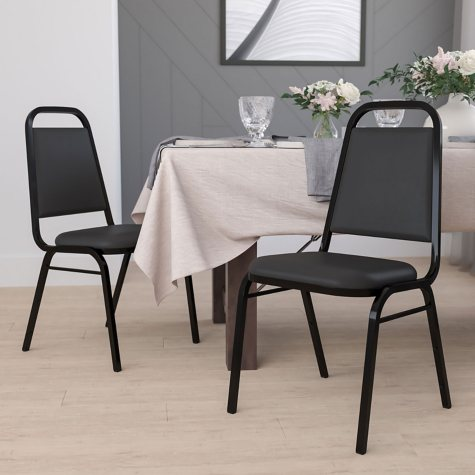 Flash Furniture Hercules Series Vinyl Banquet Chair, Black