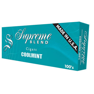 Supreme Blend Coolmint Cigars 100s 1 Carton