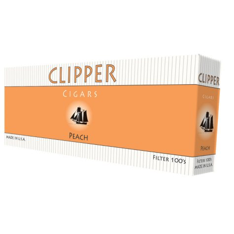 Clipper Cigars Peach 100s Box - 200 ct.