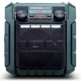 Ion Audio IPA95 Survival Scout Solar Charging Portable Radio with Bluetooth