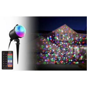ion holiday party plus multi color indooroutdoor led projection light