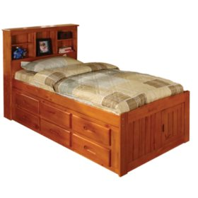 Bookcase Twin Bed Assorted Colors