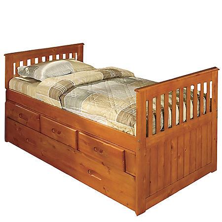 Twin Rake Bed - Honey