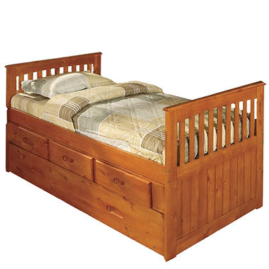 Twin Rake Bed - Honey