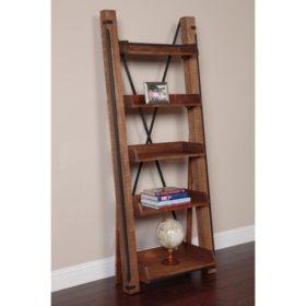 American Furniture Classics Industrial Open Shelf Ladder Bookcase