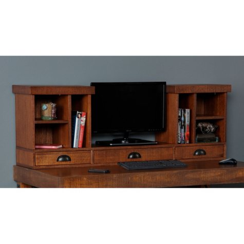 American Furniture Classics Industrial Collection Three Drawer Monitor Hutch for models 33220 and 33222