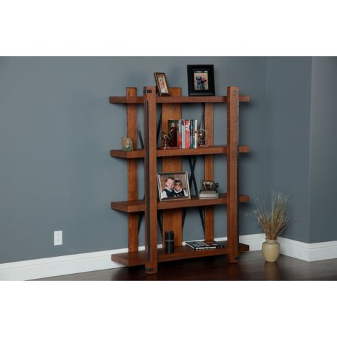 American Furniture Classics Industrial Collection Four Shelf 60 inch bookcase