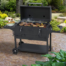 "Smoke Hollow 36"" Deluxe Charcoal BBQ Grill"