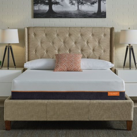 "LulaaBED 11"" Coral Medium King Gel Memory Foam Mattress"
