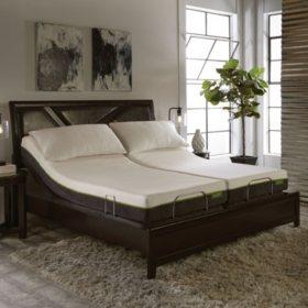 lulaabed 8 emerald firm split california king mattress and lb200 adjustable base set - Adjustable Mattress Base