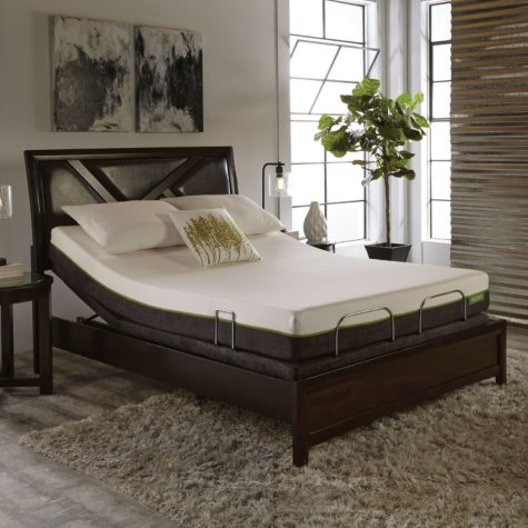 "LulaaBED 8"" Emerald Firm Queen Mattress and LB200 Adjustable Base Set"