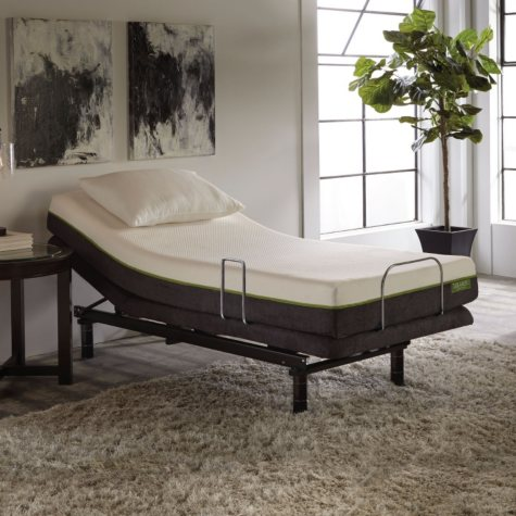 "LulaaBED 8"" Emerald Firm Twin XL Mattress and LB200 Adjustable Base Set"