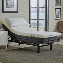 "LulaaBED 9"" Emerald Medium Twin XL Mattress and LB200 Adjustable Base Set"