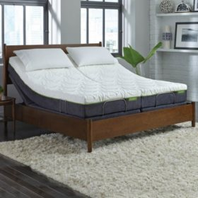 "LulaaBED 10"" Emerald Plush Split King Mattress and LB300 Adjustable Base Set"