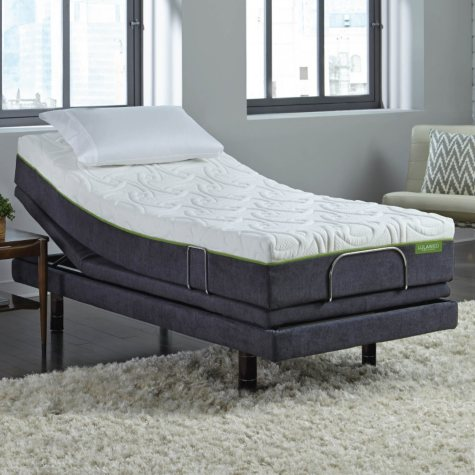 "LulaaBED 10"" Emerald Plush Twin XL Mattress and LB300 Adjustable Base Set"