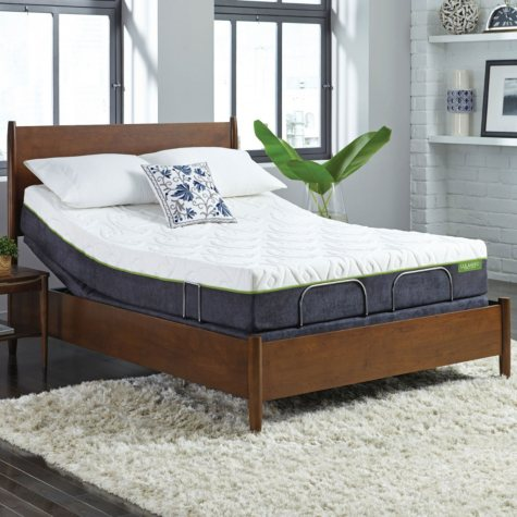 """LulaaBED 10"""" Emerald Plush Queen Mattress and LB200 Adjustable Base Set"""