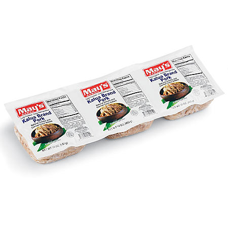 May's Hawaii Kalua Brand Pork (3 lbs.)