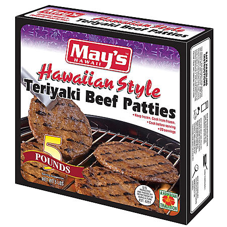 May's Hawaiian-Style Teriyaki Beef Patties (20 ct.)