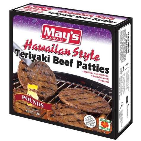 May's Hawaiian-Style Teriyaki Beef Patties (20 ct.)