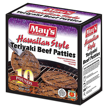 May's Hawaii Teriyaki Beef Patties (10 lbs.)