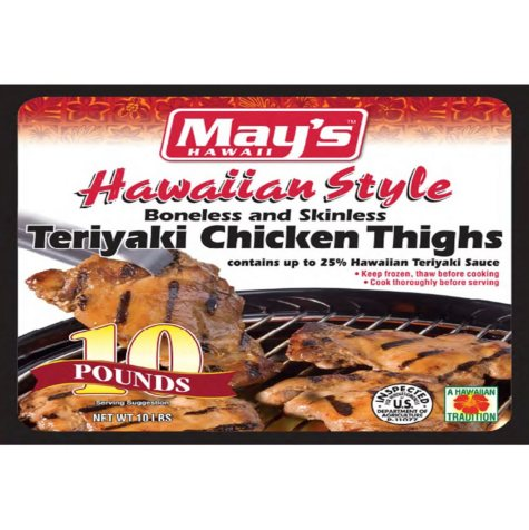 May's Hawaii Teriyaki Chicken Thighs (10 lbs.)