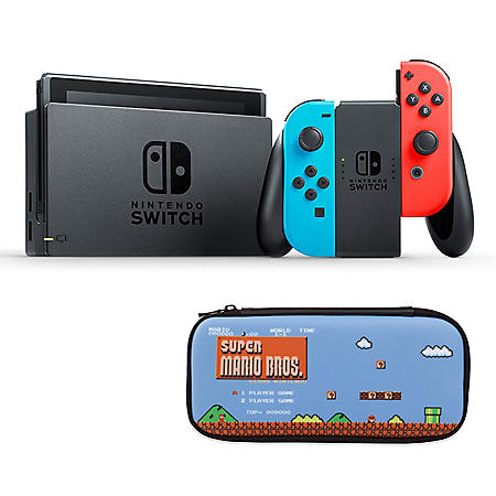 Nintendo Switch with Mario Case