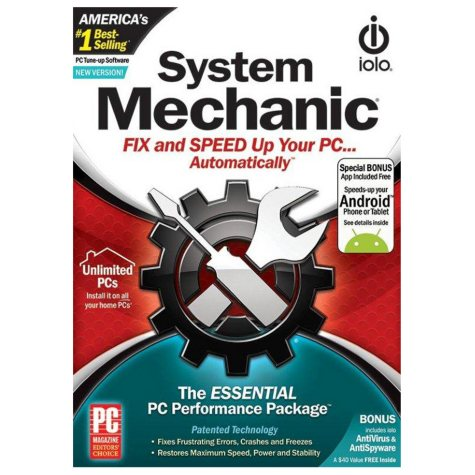 IOLO SYSTEM MECHANIC PC UTILITY SOFTWARE