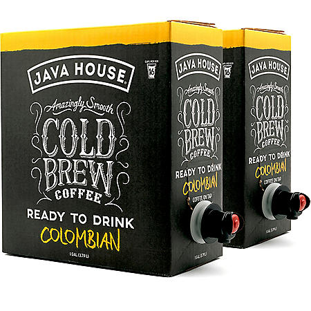 Java House Single Origin Cold Brew Coffee On Tap, Colombian Black (128 oz., 2 pk.)