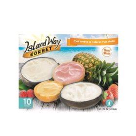 Island Way Sorbet Variety Pack 10 Ct Sam S Club