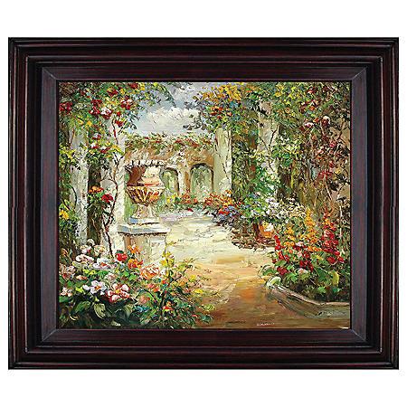 """Framed Hand-Painted Oil Art """"Secret Path"""""""