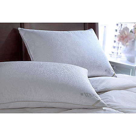 Wesley Mancini 300-Thread-Count Yarn-Dyed Goose Down Pillow