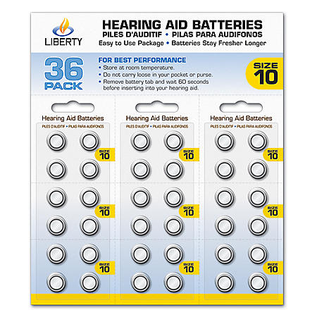 Liberty Hearing #10A Battery, 36 pack