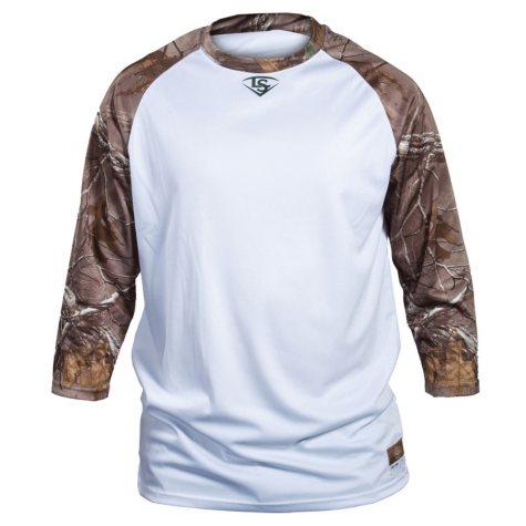 Louisville Slugger Adult Slugger Loose-Fit 3/4 Sleeves RealTree Shirt