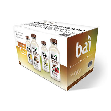Bai Cocofusions Antioxidant Infusion Variety Pack (18 fl. oz., 15 ct.)