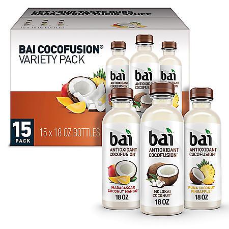 Bai Antioxidant Cocofusions Variety Pack (18oz / 15pk)
