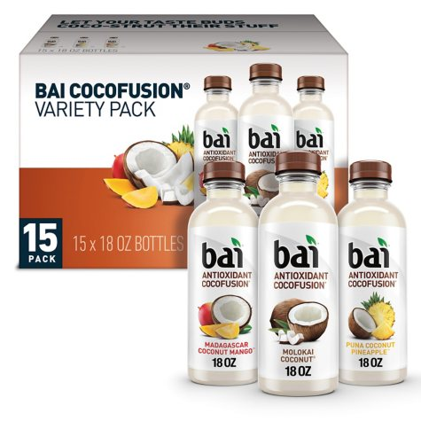 Bai Antioxidant Cocofusions Volcanic Variety Pack (18 oz., 15 pk.)