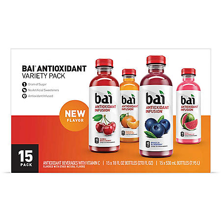 Bai Antioxidant Surfside Variety Pack (18oz / 15pk)