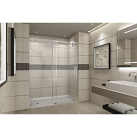 Aston Warwick Sliding Shower Door (Chrome Finish)
