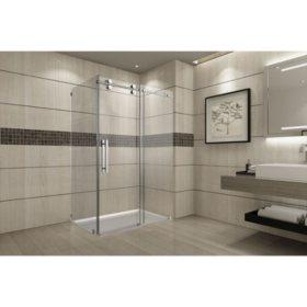 Aston Warwick Sliding Shower Enclosure (Chrome Finish)