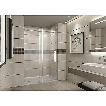 Aston Warwick Sliding Shower Door (Chrome Finish)