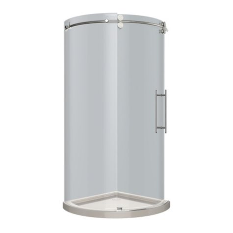 Aston Solita Round Sliding Shower Enclosure with Base (Chrome Finish)