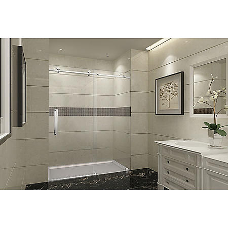 Aston Miramar Sliding Shower Door (Chrome Finish)