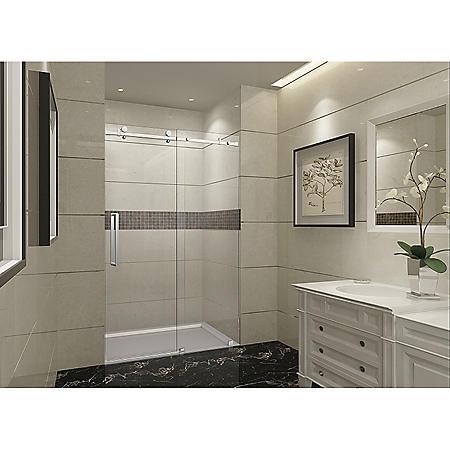 Aston Miramar Sliding Shower Door (Stainless-Steel Finish)