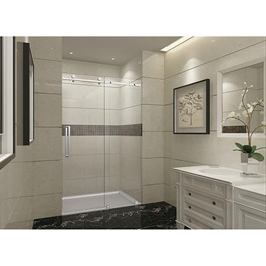 Aston Miramar Sliding Shower Door (Stainless-Steel Finish)