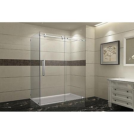Aston Miramar Sliding Shower Enclosure (Stainless-Steel Finish)