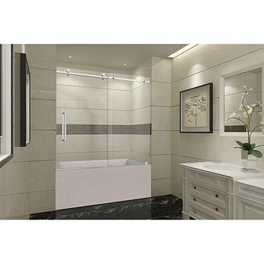 Aston Miramar Sliding Tub Door (Stainless-Steel Finish)