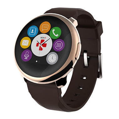 Kronoz ZeRound Smartwatch with circular touchscreen (Assorted Colors)