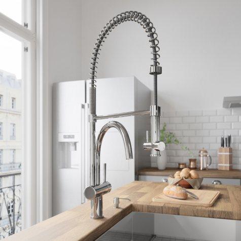 VIGO Chrome Pull-Down Spray Kitchen Faucet