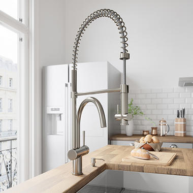 Captivating VIGO Stainless Steel Pull Down Spray Kitchen Faucet
