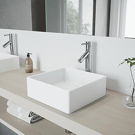 VIGO Bathroom Vessel Faucet - Chrome Finish